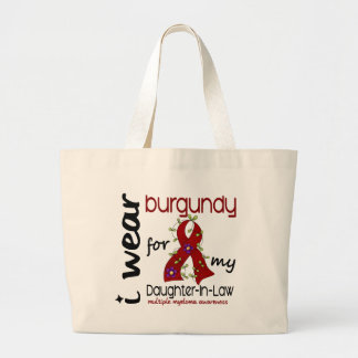 Multiple Myeloma BURGUNDY FOR MY DAUGHTER-IN-LAW Jumbo Tote Bag
