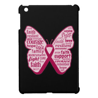 Multiple Myeloma Butterfly Collage of Words iPad Mini Cover
