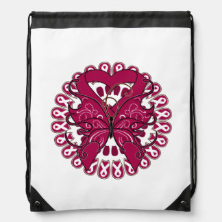 Multiple Myeloma Butterfly Heart Ribbon Backpacks