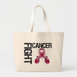 Multiple Myeloma Cancer Fight Boxing Gloves Jumbo Tote Bag