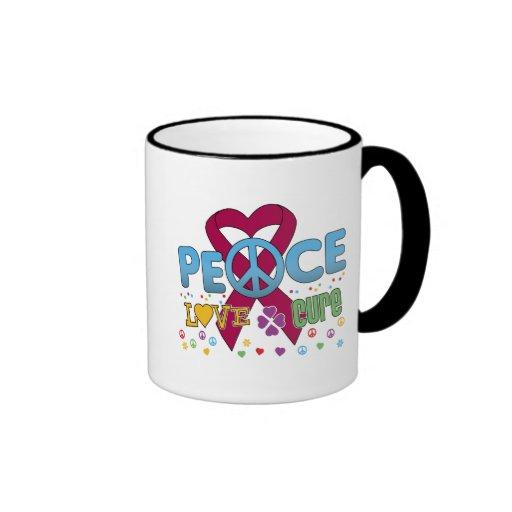 Multiple Myeloma Cancer Groovy Peace Love Cure Mug