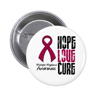 Multiple Myeloma Cancer Hope Love Cure Ribbon 6 Cm Round Badge