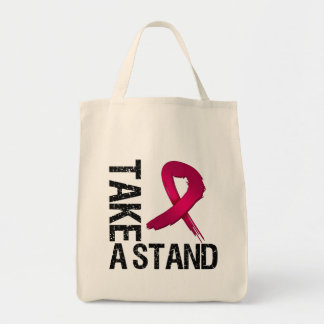 Multiple Myeloma Cancer Take A Stand Grocery Tote Bag