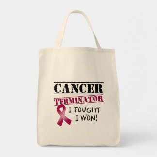 Multiple Myeloma Cancer Terminator Grocery Tote Bag