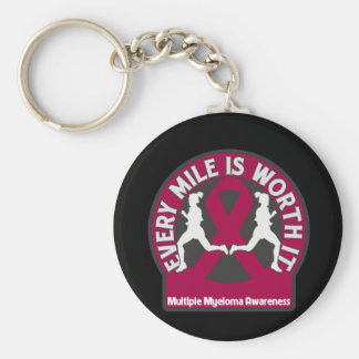 Multiple Myeloma Every Mile Is Worth It Keychains
