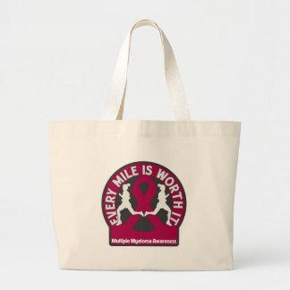 Multiple Myeloma Every Mile Is Worth It Jumbo Tote Bag