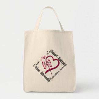 Multiple Myeloma Faith Hope Love Butterfly Canvas Bag
