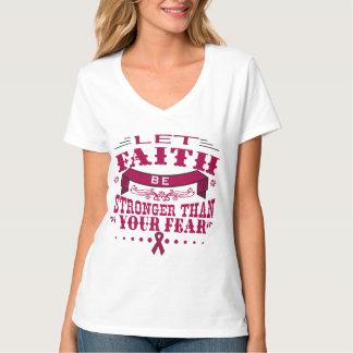 Multiple Myeloma Faith Stronger than Fear.png T-Shirt
