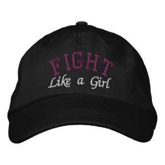 Multiple Myeloma - Fight Like a Girl Embroidered Baseball Cap