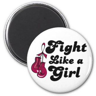Multiple Myeloma Fight Like A Girl Motto 6 Cm Round Magnet