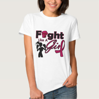 Multiple Myeloma Fight Like A Girl Silhouette Shirt
