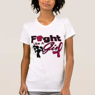 Multiple Myeloma Fight Like A Girl Silhouette Tee Shirts