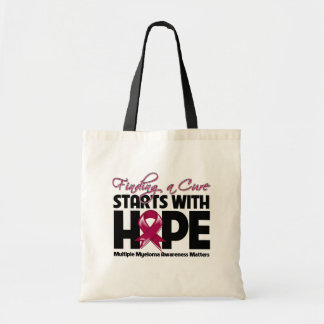 Multiple Myeloma Finding a Cure Starts With Hope Budget Tote Bag