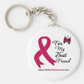 Multiple Myeloma For My Best Friend Basic Round Button Key Ring
