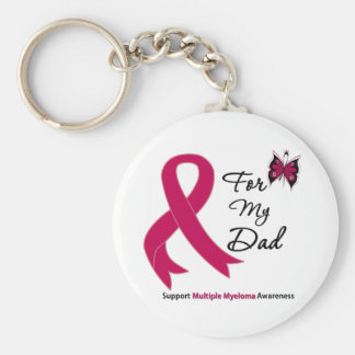 Multiple Myeloma For My Dad Basic Round Button Key Ring