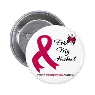 Multiple Myeloma For My Husband 6 Cm Round Badge