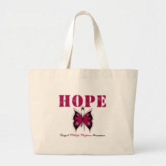 Multiple Myeloma Hope Butterfly Jumbo Tote Bag