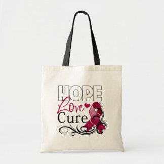 Multiple Myeloma Hope Love Cure Budget Tote Bag