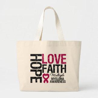 Multiple Myeloma Hope Love Faith Jumbo Tote Bag