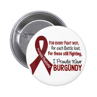 Multiple Myeloma I Proudly Wear Burgundy 1 6 Cm Round Badge