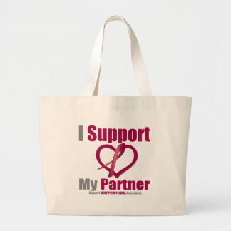Multiple Myeloma I Support My Partner Tote Bags