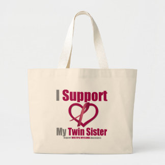 Multiple Myeloma I Support My Twin Sister Jumbo Tote Bag
