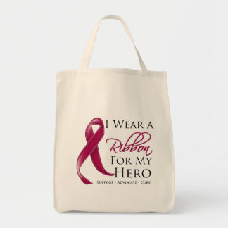 Multiple Myeloma I Wear a Ribbon For My Hero Tote Bag