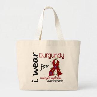 Multiple Myeloma I WEAR BURGUNDY FOR AWARENESS 43 Canvas Bag