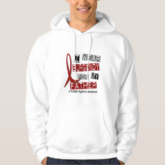 MULTIPLE MYELOMA I Wear Burgundy For My Father 37 Hoodie