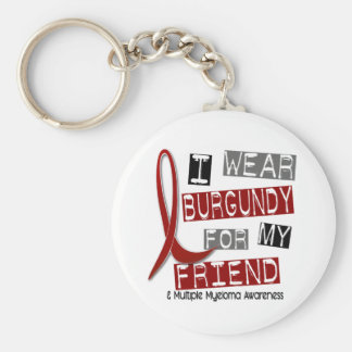 MULTIPLE MYELOMA I Wear Burgundy For My Friend 37 Key Ring
