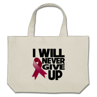 Multiple Myeloma I Will Never Give Up Canvas Bags