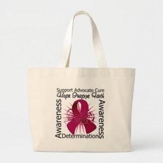 Multiple Myeloma Inspirations Spiral Ribbon Jumbo Tote Bag