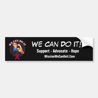 Multiple Myeloma Rosie The Riveter - We Can Do It Bumper Sticker