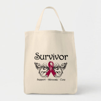 Multiple Myeloma Survivor Floral Deco Tote Bag