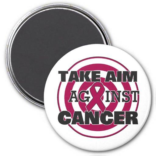 Multiple Myeloma Take Aim Against Cancer Refrigerator Magnets