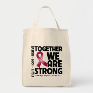 Multiple Myeloma Together We Are Strong Grocery Tote Bag