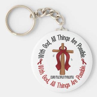 Multiple Myeloma WITH GOD CROSS 1 Key Ring