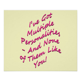 Multiple Personalities Poster