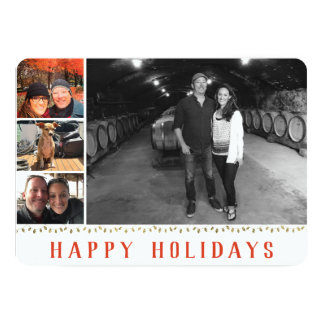 Multiple Photo | 4 Image | Happy Holidays Collage Card