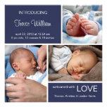 Multiple Photo Birth Announcement//Navy Blue Denim