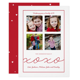 Multiple Photo Valentine's Day Family Photo Card
