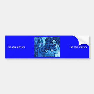 (multiple products selected The card players) Car Bumper Sticker