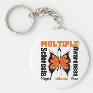 Multiple Sclerosis Awareness Butterfly Keychain