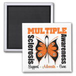 Multiple Sclerosis Awareness Butterfly Square Magnet