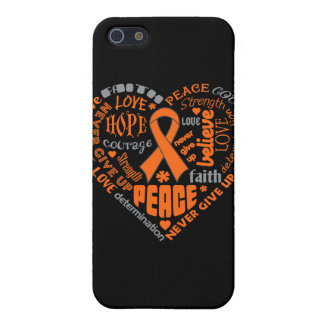 Multiple Sclerosis Awareness Heart Words iPhone 5 Covers