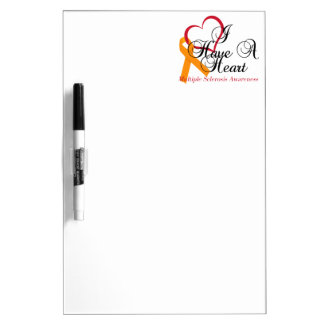 Multiple Sclerosis Awareness I Have A Heart Dry Erase Board