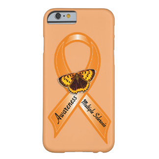 Multiple Sclerosis Awareness Ribbon with Butterfly Barely There iPhone 6 Case