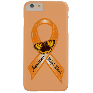 Multiple Sclerosis Awareness Ribbon with Butterfly Barely There iPhone 6 Plus Case