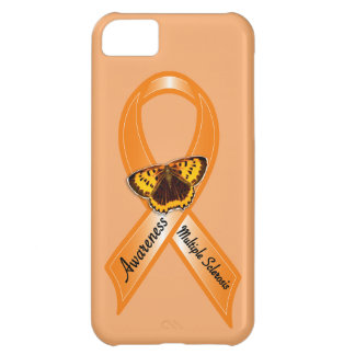 Multiple Sclerosis Awareness Ribbon with Butterfly iPhone 5C Case