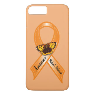 Multiple Sclerosis Awareness Ribbon with Butterfly iPhone 7 Plus Case